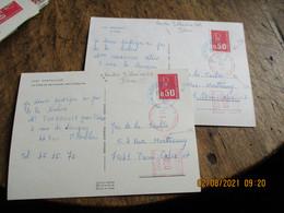Lot De 2 , Couleur Bleue Nantes Bellevue  Plus Obliteration Machine - 1961-....