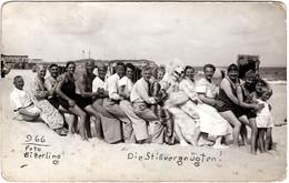 C Photo Originale Eisbär, Déguisement D'Ours Blanc Polaire Pour Queue Leu Leu à La Plage Vs 1930 Die Stillvergnügten - Anonymous Persons