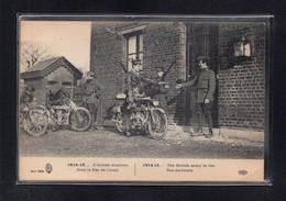 (06/08/21) MILITARIA-CPA L'ARMEE ANGLAISE DANS LE PAS DE CALAIS - BELLES MOTOS - Moto