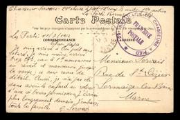 CACHET DU 29E BATAILLON DE CHASSEURS A PIED A LA FERTE-BERNARD (SARTHE) - VOYAGE LE 11.07.1917 - Guerra Del 1914-18