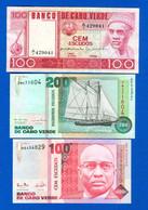 Cape  Vert  3  Billets  Neuf - Cape Verde