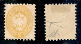 Antichi Stati Italiani - Lombardo Veneto - 1864 - 2 Soldi (41) - Gomma Originale - Molto Bello - Diena + Cert. Bottacchi - Non Classificati