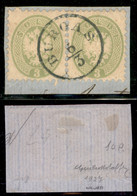 Antichi Stati Italiani - Lombardo Veneto - Burgas (azzurro - Pti 10) - Coppia Del 3 Soldi (42) Usata Su Frammento - G. B - Non Classificati