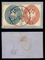 Antichi Stati Italiani - Lombardo Veneto - Mista - 10 Soldi (44) + 5 Soldi (38) - Uso Misto Su Frammento - Verona 24.7 - Non Classificati