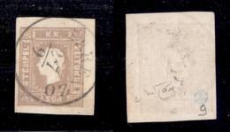 Antichi Stati Italiani - Territori Italiani D'Austria - 1858 - Per Giornali - 1.05 Kreuzer (17) Usato A Parenzo - Cert.  - Non Classificati