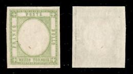 Antichi Stati Italiani - Napoli - 1861 - Prove - Mezzo Tornese (17ala) Gommato Al Recto  Senza Effigie - Gomma Integra - Non Classificati