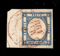Antichi Stati Italiani - Napoli - Partenza Da Napoli (rosso - P.ti 10) - 2 Grana (20) Usato Su Frammento Il 7.3.61 (anno - Non Classificati