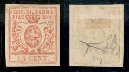 Antichi Stati Italiani - Parma - 1859 - 15 Cent (9) - Gomma Originale - Molto Bello - Emilio Diena + Cert. Bottacchi - Non Classificati