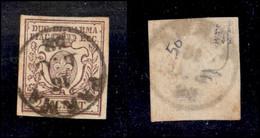 Antichi Stati Italiani - Parma - 1857 - 25 Cent (10) - Usato (500) - Non Classificati