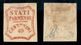 Antichi Stati Italiani - Parma - Governo Provvisorio - 1859 - 40 Cent (17) - Gomma Originale - Clichè Difettoso (cornice - Non Classificati