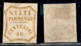 Antichi Stati Italiani - Parma - 1859 - 80 Cent (18) - Gomma Recuperata (rigommato) - Valutato Senza Gomma (6.000) - Non Classificati