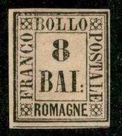 Antichi Stati Italiani - Romagne - 1859 - 8 Bai (8) - Gomma Originale - Diena - Non Classificati