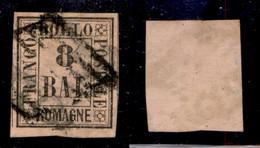 Antichi Stati Italiani - Romagne - 1859 - 8 Bai (8) Usato - Piccolo Punto Di Assottigliamento Sul Bordo Sinistro - Non Classificati