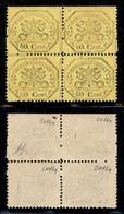 Antichi Stati Italiani - Stato Pontificio - 1868 - 40 Cent (29 + 29n) In Quartina Do Bordo Foglio (in Alto) Con Salto Di - Non Classificati
