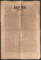 Antichi Stati Italiani - Sardegna - R. Poste Stampati Franchi C.i 2 Torino (rosso) - Giornale Espero Del 1 Settembre 185 - Non Classificati