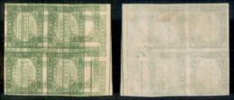 Antichi Stati Italiani - Sardegna - 1863 - Resto Di Stampa - Senza Effigie - 5 Cent (13Ea) - Quartina Del Disegno Con Gr - Non Classificati