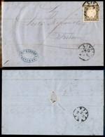 Antichi Stati Italiani - Sardegna - 10 Cent (14Ca - Grigio Oliva) - Lettera Da Livorno A Firenze Del 18.7.61 - Alfani - Non Classificati