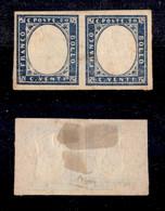 Antichi Stati Italiani - Sardegna - 1860 - Effigi Capovolte - 20 Cent (15Cc) - Coppia Orizzontale - Gomma Originale - Ce - Non Classificati