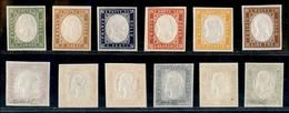 Antichi Stati Italiani - Sardegna - 1862/1863 - Quarta Emissione - 6 Valori (13E/15E + 16F + 17D + 18A) - Gomma Integra  - Non Classificati