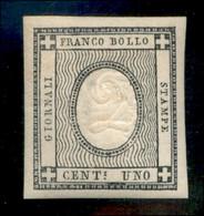 Antichi Stati Italiani - Sardegna - 1861 - 1 Cent (19 L) Con Cifra 2 - Gomma Originale Con Impercettibile Traccia Di Lin - Non Classificati