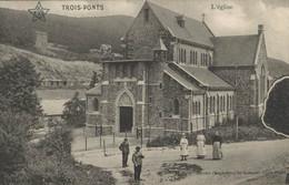 Trois-Ponts - L'Eglise - Vue Animée - 2 Scans - Trois-Ponts