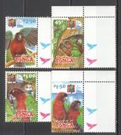 F159 2002 TONGA FAUNA BIRDS PARROTS NATIONAL PARK #1639-42 SET MNH - Perroquets & Tropicaux