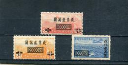 Chine 1948 Yt 39-40 44 * Timbres Pour La Poste Aérienne - 1912-1949 Republic