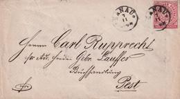 NORDEUTSCHER BUND     LETTRE DE HANAU - Norddeutscher Postbezirk (Confederazione Germ. Del Nord)