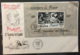 SPAIN :  FDC  PICASSO Sheet 1981 - FDC