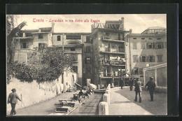Cartolina Trento, Lavandaie In Via Dietro Alle Roggie, Waschfrauen Bei Der Arbeit - Trento