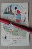 CPA ILLUSTREE XAVIER SAGER EQUITATION Envoi De Soldat 14-18 WWI Militaria Cheval Cavalière - Sager, Xavier