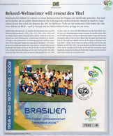 Qualifikation BRAZIL Fußball-WM 2006 Brasilien 3445 ** Plus FDC 4€ In Germany Football Cover Championat Stamp Bf Soccer - Storia Postale