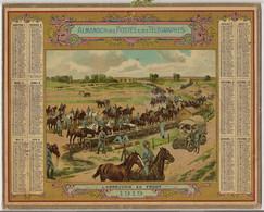 ALMANACH  DES  POSTES    1919  /  L ' ABREUVOIR  AU  FRONT  /  Militaires  Chevaux  Véhicule - Big : 1901-20