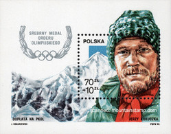 Poland 1988 Mountain Berge Mountaineering Jerzy Kukuczka Mt. Everest 8848m MNH ** - Nuovi