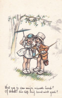 Bouret Germaine Enfants Paraplu De Pluie Old Cpa. 1939 - Bouret, Germaine