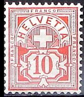 Schweiz Suisse HELVETIA 1906: Ziffer 10 C. Mit WZ I Zu 83 Mi 85 Yv 103 * Falzspur Trace De Charnière MLH (Zu CHF 7.00) - Nuovi