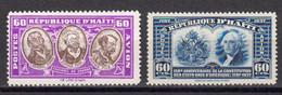 Haïti 1936 Et 1938 Yvert 8 * Et 11 * Neufs Avec Charniere - Haití