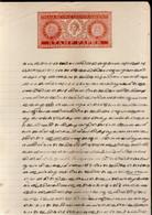 India Fiscal Travancore State 1 Chukram Stamp Paper Type 50 KM 501 Revenue Court Fee # 10159A - Otros