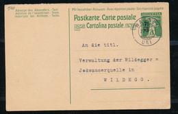 "HELVETIA - C.P.  - Cachet ""WASSEN"" Dd. 27-V-1920 - (ref. 91) - Interi Postali"