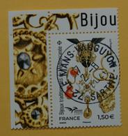 FRANCE 2021   BIJOUX TRADITIONNELS DE MEDITERRANEE  CACHET  ROND  COIN DE FEUILLE - Used Stamps