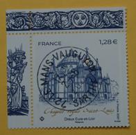 FRANCE 2021   CHASSE ROYALE  ST LOUIS  DREUX (Eure Et Loir)   Timbre Neuf  CACHET ROND COIN DE FEUILLE - Used Stamps