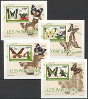AA919 IMPERFORATE 2010 TOGO TOGOLAISE FLORA & FAUNA BUTTERFLIES 4 LUX BL MNH - Schmetterlinge