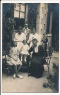 CPA 33 Carte-photo Groupe Familial Dont Soeurs Jumelles à ARCACHON  Famille LaLande - Arcachon