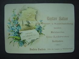 Carte De Visite - Type Carte Porcelaine - Gustav Salzer - Baden-Baden - Visiting Cards
