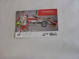 Formule 1 - Autographe - Carte Signée - Mick Schumacher - Autographs