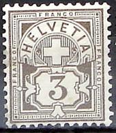 Schweiz Suisse HELVETIA 1906: Ziffer (3 C) Mit WZ I Zu 81 Mi 83 Yv 101 * Falzspur Trace De Charnière MLH (Zu CHF 7.00) - Nuovi