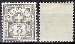 Schweiz Suisse HELVETIA 1906: Ziffer (3 C) Mit WZ I Zu 81 Mi 83 Yv 101 Postfrisch ** MNH (Zu CHF 14.00) - Nuovi