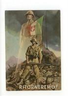 Cartolina Ritorneremo! 1942 Viaggiata Franchigia Boccasile P. M. 3450 Aeroporto - Altri
