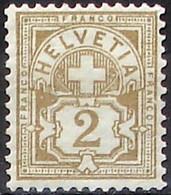 Schweiz Suisse HELVETIA 1906: Ziffer (2 C) Mit WZ I Zu 80 Mi 82 Yv 100 Postfrisch ** MNH (Zu CHF 14.00) - Nuovi