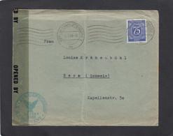 BRIEF AUS BERLIN-CHARLOTTENBURG NACH BERN,VON DER US ZENSUR GEÖFFNET. - Zone Anglo-Américaine